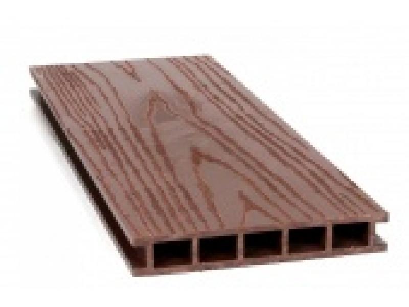 Террасная доска Альта Оптима кр.вельвет/текстура дерева 25х145х4000мм (Темный шоколад)