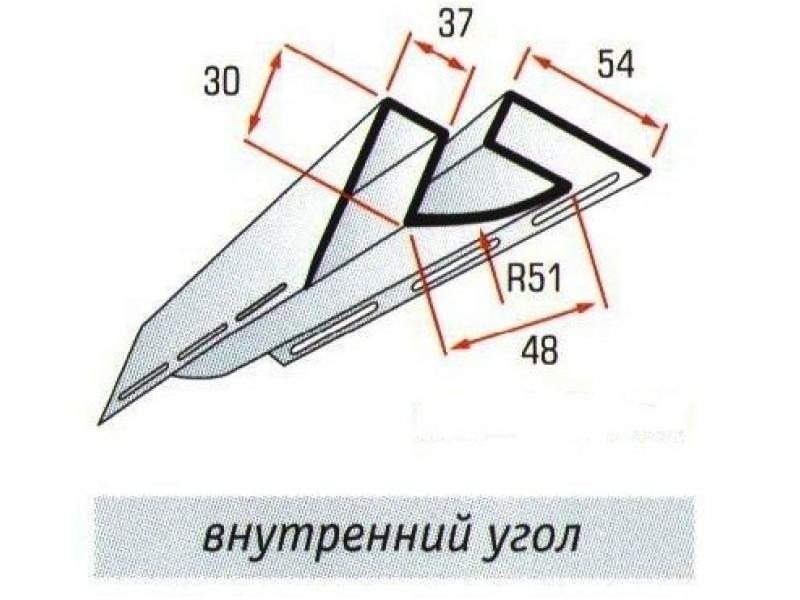 Угол внутренний Блок-хаус  Белый/Коричневый/Цветной