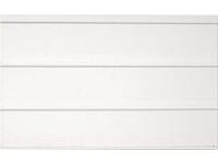 Вагонка трехсекционная ПВХ Белая