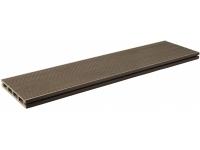 1. Террасная доска LITE дл.3м сечение 20*140мм Шоколад