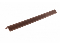 Уголок отделочный ДПК, Темно-коричневый тиснение под дерево дл.3м